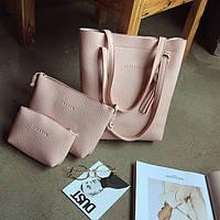 """Набор 3в1 """"JingPin"""", сумка-мешок, клатч и косметичка"""