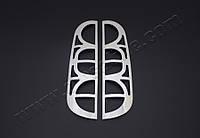 Хром накладки на окантовки на стопы Fiat Doblo I (с 2006--) (нерж.) 2 шт.