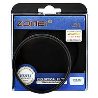 Поляризационный светофильтр ZOMEI 72 мм CPL, фото 1