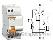 11473 двухполюсный 16А/30 мА дифференциальный автоматический выключатель АД63  Schneider Electric Domovoy