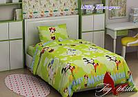 Постельное белье полуторка детское Микки ТМ TAG Mickey Mouse green