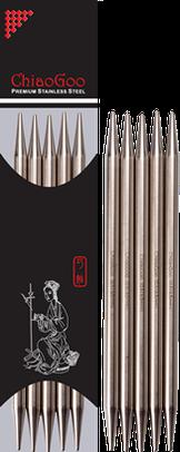 Носочные металлические спицы  ChiaoGoo № 3.5  ,длина 20 см.