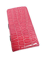 Чехол-книжка Универсальная 5 розовый крокодил