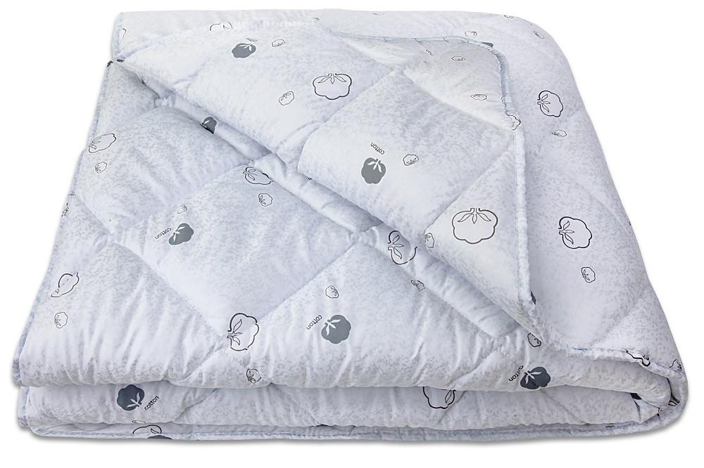 Одеяло двуспальное Евро COTTON 200х210 см наполнитель хлопковое волокно - Интернет-магазин shoppingplus в Днепре