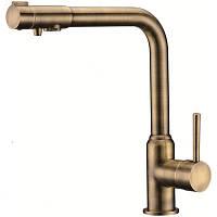 Смеситель с подключением фильтрованной воды 2 в 1 Kaiser Teka 13044-3 Бронза, фото 1