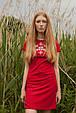 Сукня Лісова пісня золота на червоному – короткий рукав, фото 2