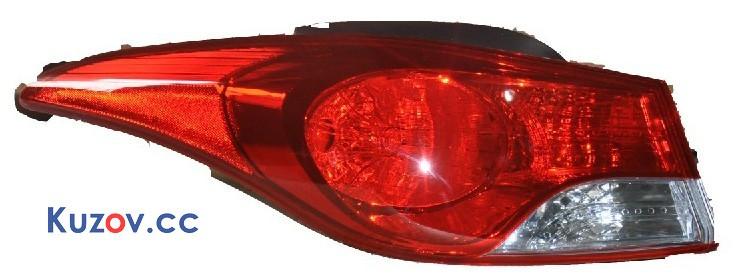 Задний фонарь Hyundai Elantra MD 11-15 левый (Depo) внешний 924013X000