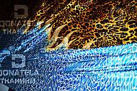 Натуральный шелк натуральний шовк тигровий с огнем