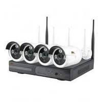 Набор для наружного IP видеонаблюдения Outdoor Wireless Kit 2MP 4xIP (заводской)