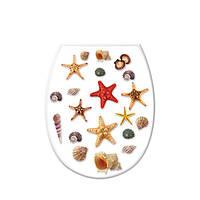Крышка для унитаза с рисунком морская звезда, 36,5x45x3,5см Elif plastik  372-1LF