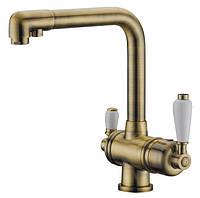 Смеситель для кухни с подключением фильтрованной воды ELGHANSA Terrakotta Bronze 56A5740