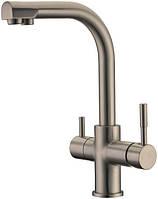 Смеситель для кухни с подключением фильтрованной воды Kern 2012 Нержавейка