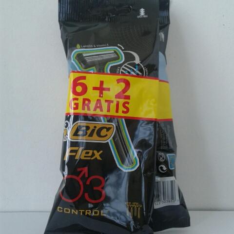 Станок для бритья мужской одноразовый BiC Flex 6+2 шт. (Бик Флекс 3 Пр-во Европа) оригинал