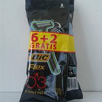 Станок для бритья мужской одноразовый BiC Flex 6+2 шт. (Бик Флекс 3 Пр-во Европа) оригинал, фото 1