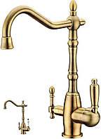 Смеситель для кухни с подключением фильтрованной воды Kern 2038 Bronze