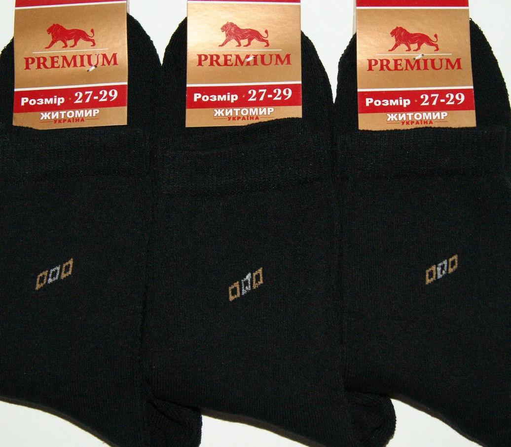 Шкарпетки чоловічі зимові махрові бавовна Преміум розмір 27(41-43) чорні