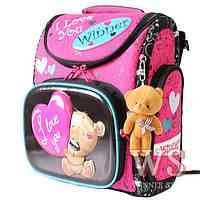 Рюкзак Winner stile 1023 трансформер ортопедический школьный для девочек розовый 30 см * 16 см * 36 см