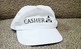 Кепка классическая белая CASHER с прямым козырьком