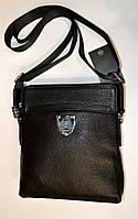 Мужская кожаная сумка PHILIPP PLEIN черного цвета