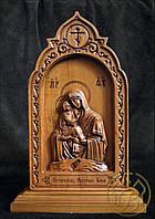 Резная икона Божья Матерь Почаевская