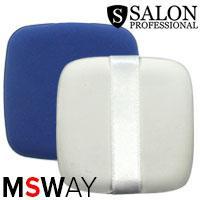 Salon Prof. Спонж 1шт прорезиненная пуховка квадратная сине-белая 12185