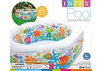 Детский бассейн с надувным дном 56493 Intex (191х178х61см)