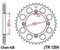 Звезда задняя HONDA CRF, XR - JTR1204.50 / JTR120450