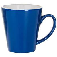 Керамическая чашка AGAMA Синяя под нанесение логотипа, чашка с логотипом