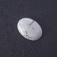 Кабошон Кахолонг нат камень 2,5х1,8см
