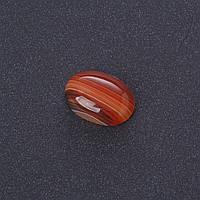Кабошон Сердолик полоска нат камень 1,3х1,8см (+-)