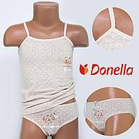 Детский комплект нижнего белья майка+трусики Donella, Турция. Donella 43294TK 0/1-R. Размер на 0-1 годик.