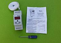Терморегулятор цифровой DigiTOP ТК-3 (Hot÷Col) DIN-рейка / 6A / 1300W / T= -55°С...+125°С (нагрев-охлаждение), фото 1