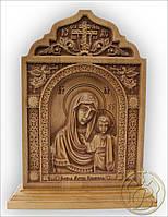 Резная икона Казанская Божья Матерь