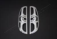 Хром накладки на окантовки на стопы Fiat Doblo II (2010-2014) (Аbs-хром) 2 шт.