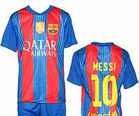 Детская (5-10 лет) футбольная форма ''Месси''-ФК''Барселона'' (2016/2017) - сине-красная, домашняя