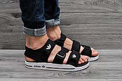 Босоножки мужские Adidas черно-белые