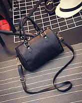 Классическая женская сумка-бочонок, фото 2