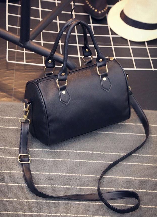 Классическая женская сумка-бочонок