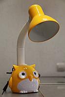 Настільна лампа ВК052  жовта сова