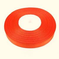 Лента атласная ярко-оранжевая 1.2см