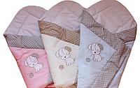 Конверт Одеяло на выписку с вышивкой цвет Розовый Лето