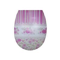 Крышка для унитаза с рисунком Роза, 36,5x45x3,5см Elif plastik  372-13LF