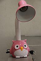 Настільна лампа ВК052 рожева сова