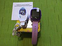 Детские водонепроницаемые часы DF25 (Q100aqua), сиреневые