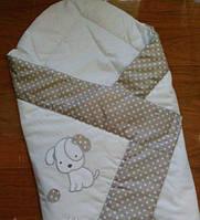 Конверт Одеяло на выписку с вышивкой цвет Бежевый Лето