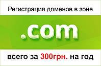 Домен COM. Купить доменное имя и зарегистрировать в зоне COM.