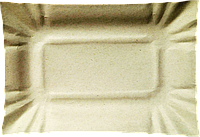 Тарелка картонная прямоугольная белая (100шт./уп.)