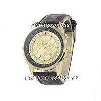 Мужские кварцевые часы Breitling Chronometre Navitimer Brown/Gold/Black - Gold