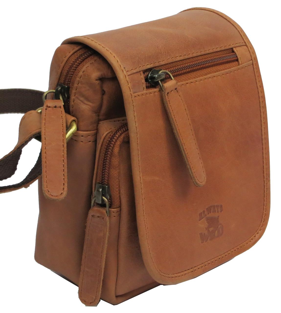 Кожаная сумка Always Wild 5047-1-CBH COGNAC, коричневый