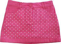 Юбка летняя коттоновая розовая размер 104 110 116 128 134 140